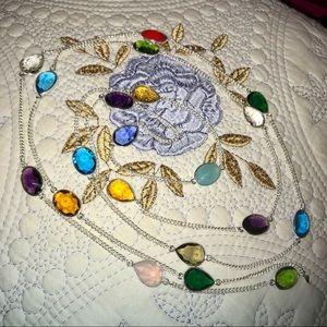Jewelry - 💜MULTI GEM STONE TENNIS NECKLACE•925 STERLING💜